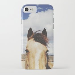 Cloudy Horse Head iPhone Case