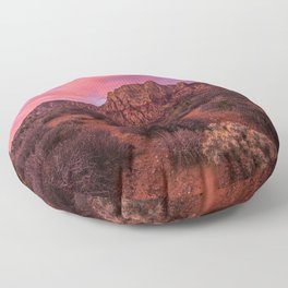 Sunrise at Red Rock Floor Pillow