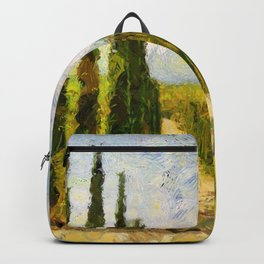Rural landscape with cypresses Backpack