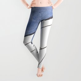 Snowy Mountain Geo Leggings