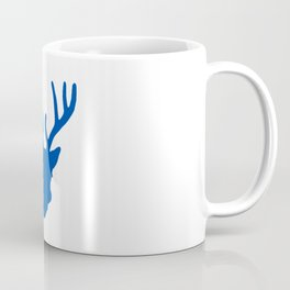 Deer Head: Blue Coffee Mug