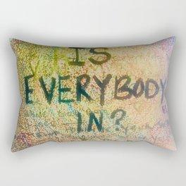 Is Everybody In Graffiti Morrison Room 32  Rectangular Pillow