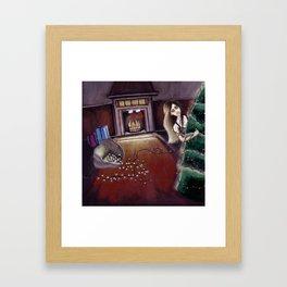 BLACK XMAS: Brighten up the Christmas lights Framed Art Print