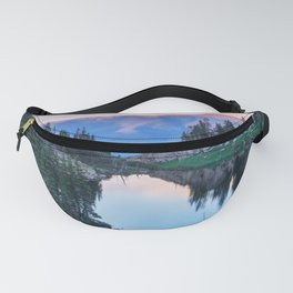 Hikers Bliss Perfect Scenic Nature View \ Mountain Lake Sunset Beautiful Backpacking Landscape Photo Fanny Pack
