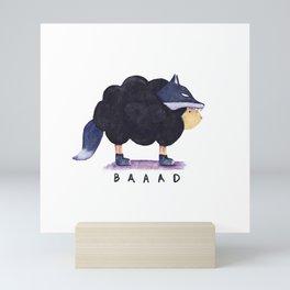 Baaad Baaad Black Sheep Mini Art Print