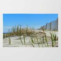cape cod Area & Throw Rugs featuring Cape Cod Dunes by Doreen Calvano Art & Photography