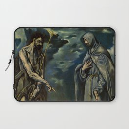 "El Greco (Domenikos Theotokopoulos) ""Saint John the Baptist and Saint Francis of Assisi"" Laptop Sleeve"