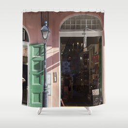 New Orleans Lampost on Royal Shower Curtain
