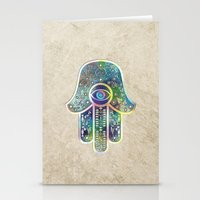 hamsa Stationery Cards featuring Hamsa by Klara Acel