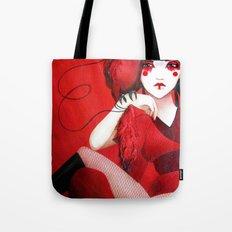 Kimiko the Geisha in Red Tote Bag