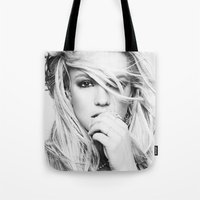 britney Tote Bags featuring Britney Heart by eriicms