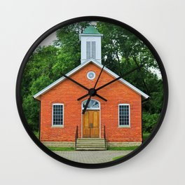 Wildwood Schoolhouse- vertical Wall Clock