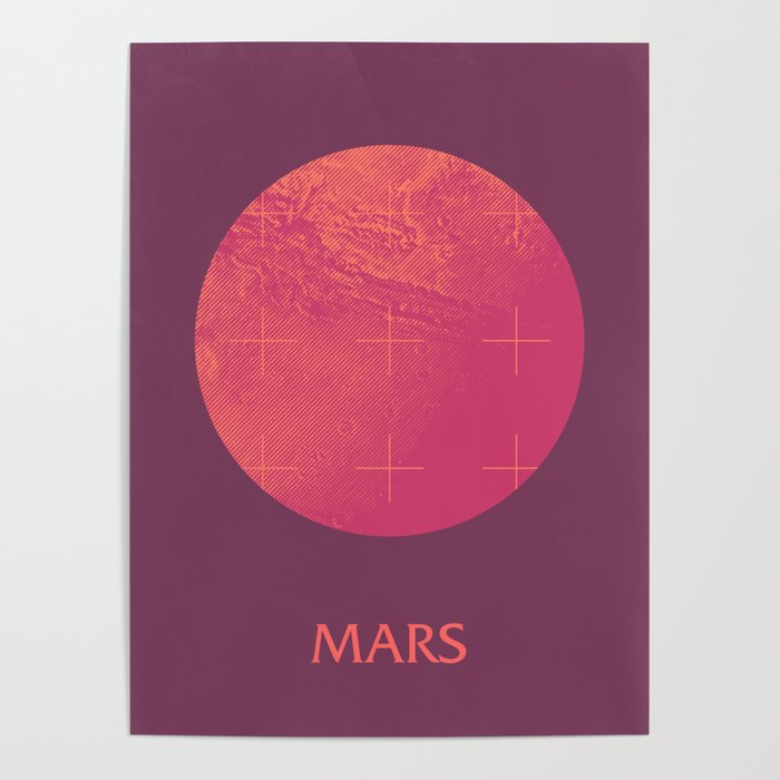 Mars Planet Space Program Retro 70s - A Poster by ...
