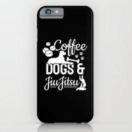 Coffee Dog & Jiu Jitsu Fighter Motives iPhone Case
