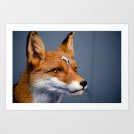 Foxy rider Art Print