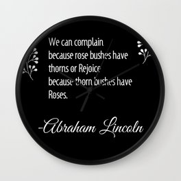 Roses Quote Wall Clock