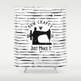 Sew Crafty - Just Make It - Do It Yourself - Shower Curtain