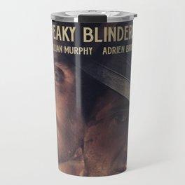 Peaky Blinders poster, Cillian Murphy is Thomas Shelby, Adrien Brody is Luca Changretta Travel Mug