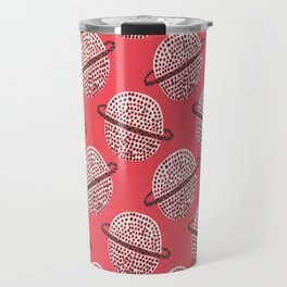 Out of Space, Planets, Stars Children's Pattern - Red Travel Mug