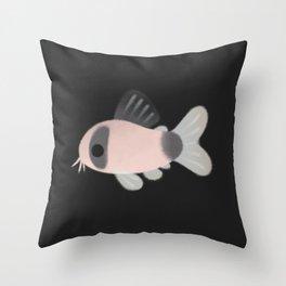 Corydoras! - black Throw Pillow