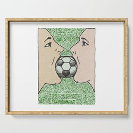 Two girls one World Cup Serving Tray