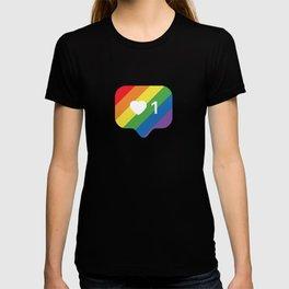 Instagram LGBTQ Heart Notification T-shirt