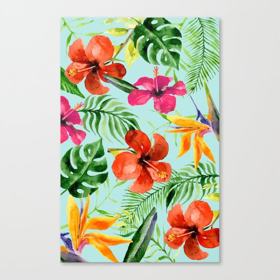 Colorful Tropical Pattern Canvas Print