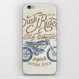 Dusty Riders Vintage Motorcycles iPhone Skin