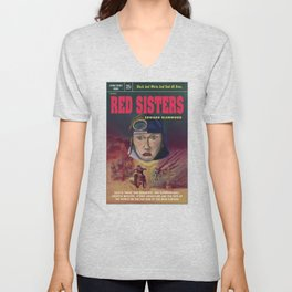 """""""Red Sisters"""" Book Cover Unisex V-Neck"""