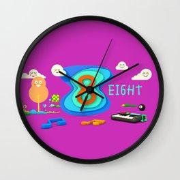 Number eight - Kids Art Wall Clock