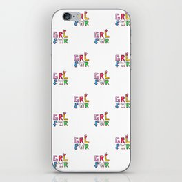 GRL PWR pattern iPhone Skin