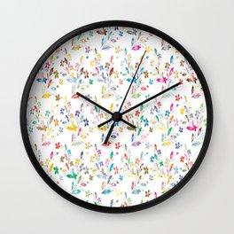 flowers seamless Wall Clock