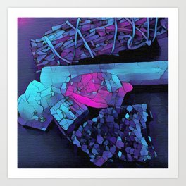 Gem Stones & Sage Art Print