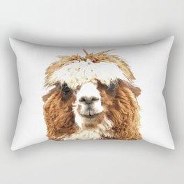 Alpaca Portrait Rectangular Pillow