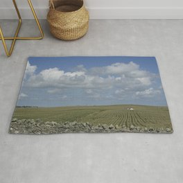 Cottage in the fields Rug