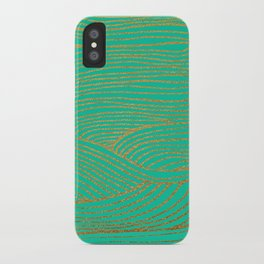 Wind Gold Turquoise iPhone Case
