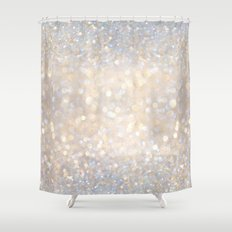 Glimmer of Light II (Ombré Glitter Abstract*) Shower Curtain