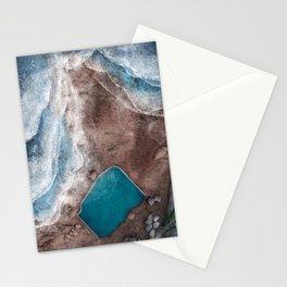 Mahon Ocean Pool at Maroubra Beach in Sydney Australia | Aerial Illustration Stationery Cards
