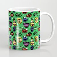 sesame street Mugs featuring Sesame Street Pattern by MOONGUTS (Kyle Coughlin)