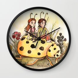 Ladybug Friends Wall Clock