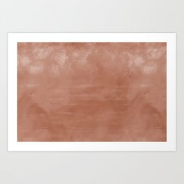 Burst of Color Sherwin Williams Cavern Clay SW7701 Abstract Sponge Watercolor Painting Blend Art Print