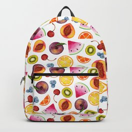 Watercolor Fruit Painting Backpack