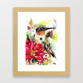 Christmas hummingbird 1 Framed Art Print