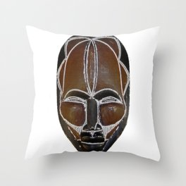 Cameroon Tikar Mask Throw Pillow