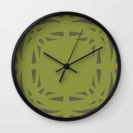Medallion Pepper Stem & Terrarium Moss Wall Clock