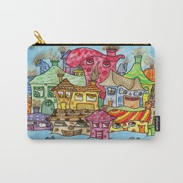 Suburbia USA Watercolor Carry-All Pouch