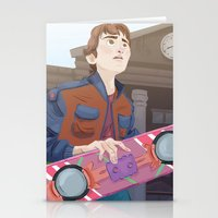 marty mcfly Stationery Cards featuring Marty McFly by Lesley Vamos