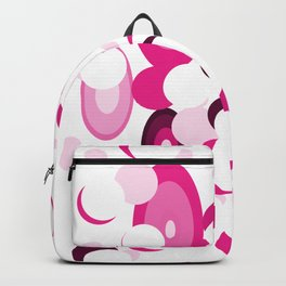 pink purple planets and moons Backpack