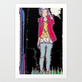 A Girl Art Print