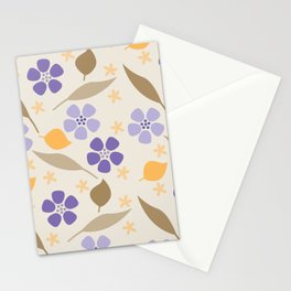 Abstract Violets Stationery Cards